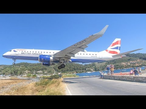 SKIATHOS 2019 - LOWEST LANDING EVER? The EUROPEAN ST. MAARTEN (4K)