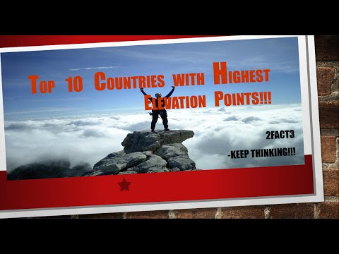 Top 10 Countries with Highest Elevation Points