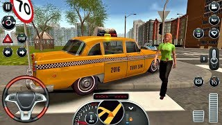 Taxi Sim 2016 #16 - CRAZY DRIVER! Taxi Game Android IOS gameplay #taxigames