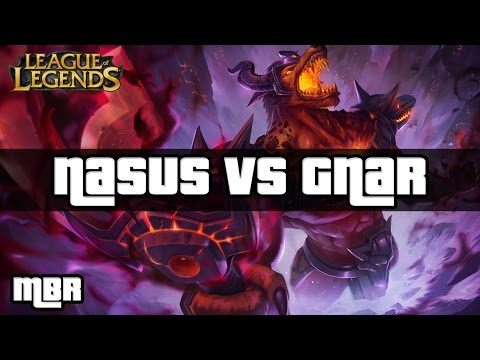 Infernal Nasus Vs Gnar Top Lane (Don't Feed Nasus Guys !) - Season 4 League of Legends Gameplay - HD