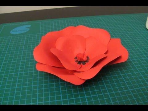 DIY - Poppy flower made of paper