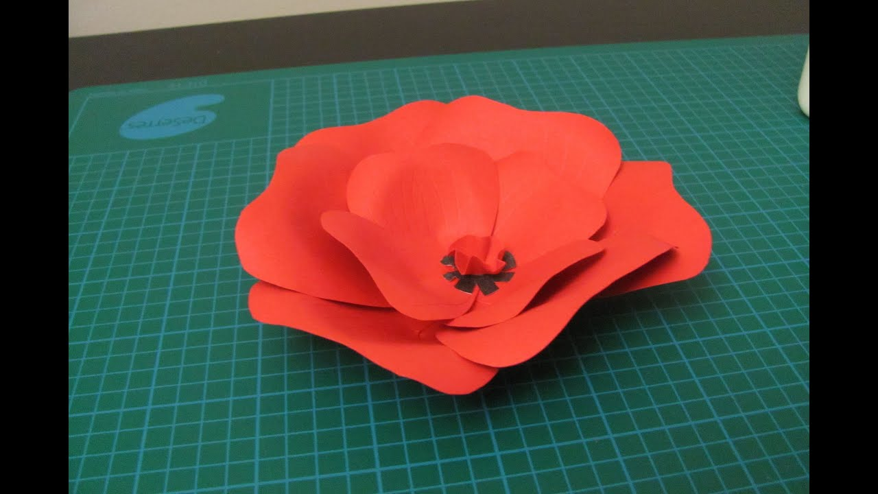 Diy poppy flower made of paper youtube mightylinksfo