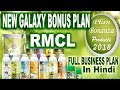 RMCL New Business Plan, Galaxy Bonus Plan, Products, Marketing Plan, Full Plan 2018, Tech Move