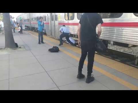 San Mateo Caltrain 20151013 Pedestrian Train Strike