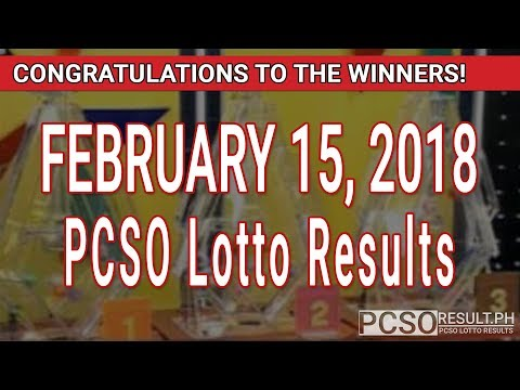 PCSO Lotto Results Today February 15, 2018 (6/49, 6/42, 6D, Swertres, STL & EZ2)