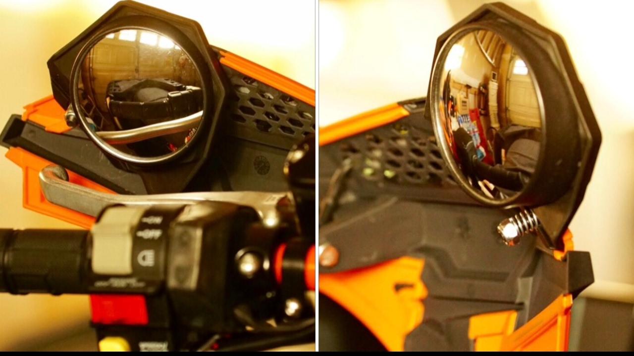 Polaris Sportsman 1000 >> Unbox & Install Powermadd Handguard Mirror Kit for a ...