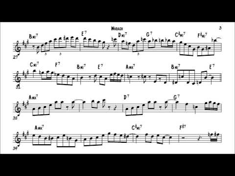 Cannonball Adderley Wabash Solo Transcription