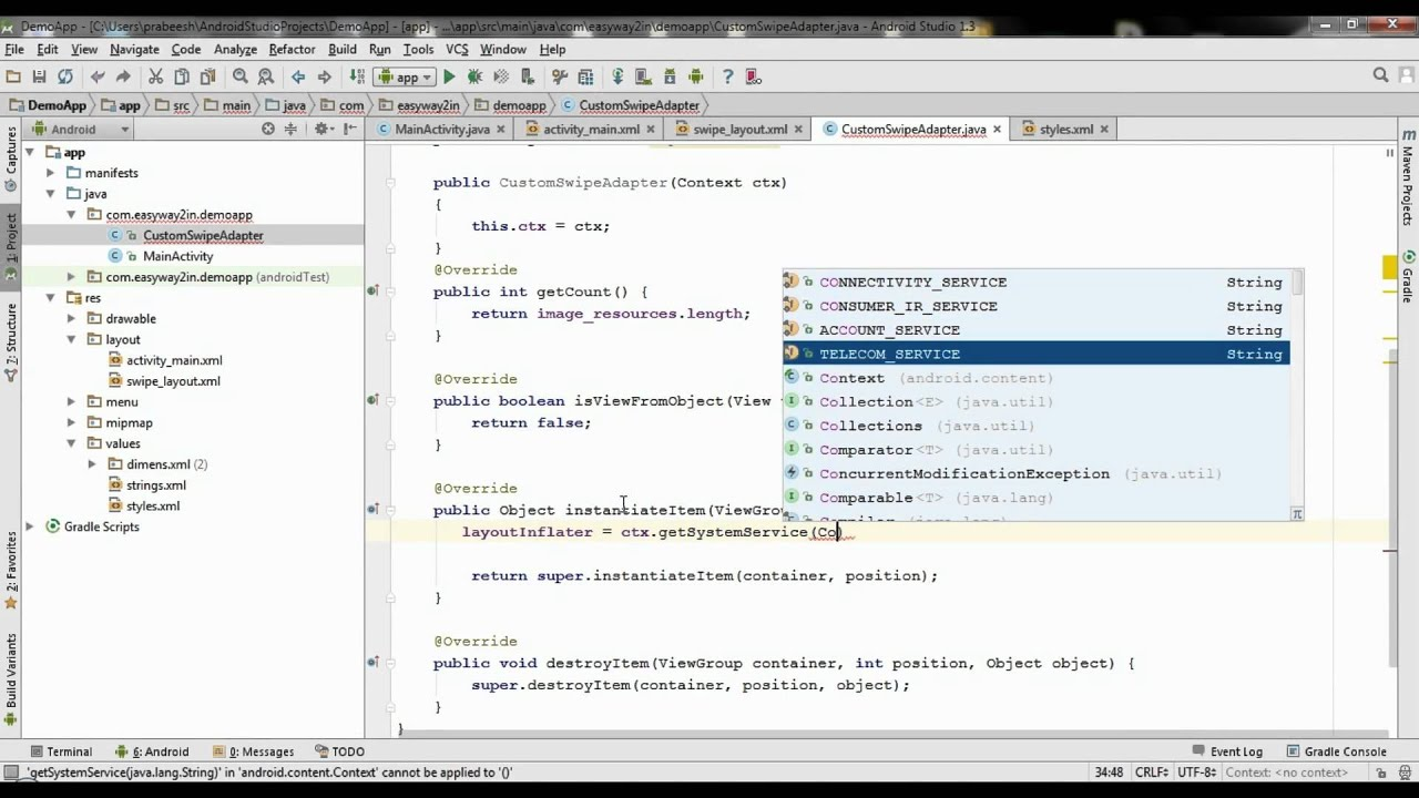 android studio tutorial 71 image slider using viewpager