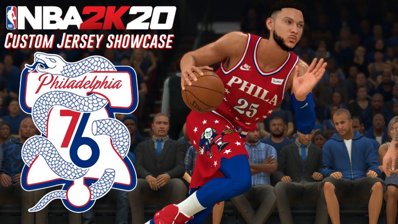 NBA2K20 Custom Jersey Showcase: Philadelphia 76ers - YouTube