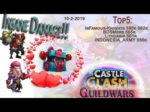 Insane Damage!! | Mino, Dread Drake | Guildwars | Castle Clash