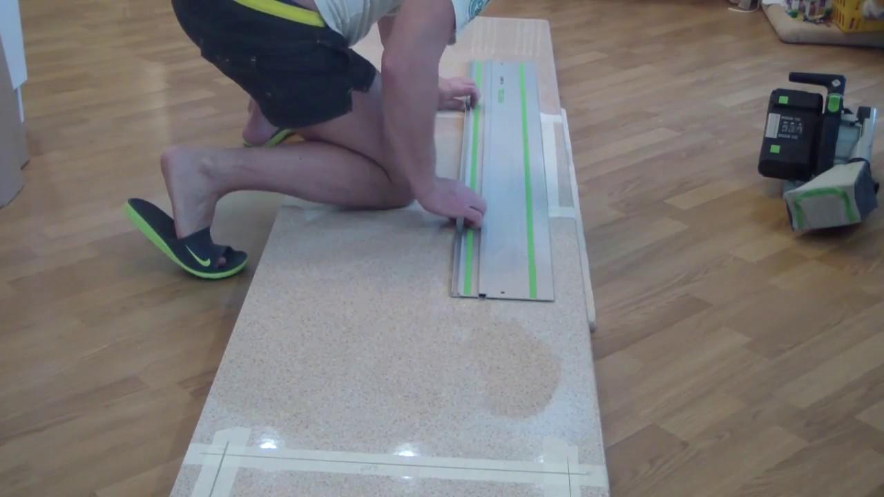 Как и чем правильно делать вырез под мойку и варочную панель в столешнице из ЛДСП? Фильм 23-й