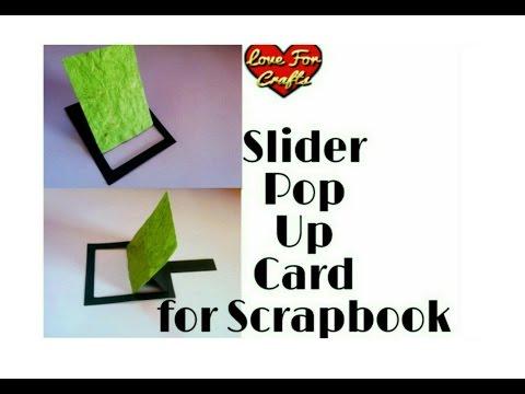 How to Make Slider Pop Up Card | DIY | Slider Pop Up Card for Scrapbook