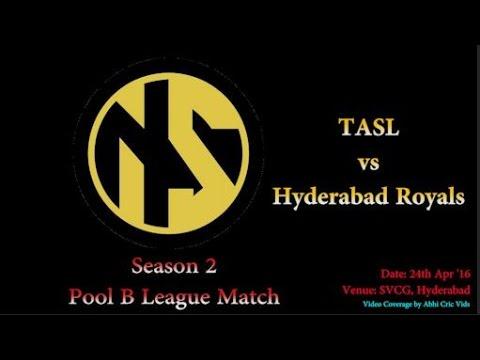 Neon Sports Season 2 Pool B League Match   TASL vs Hyderabad Royals