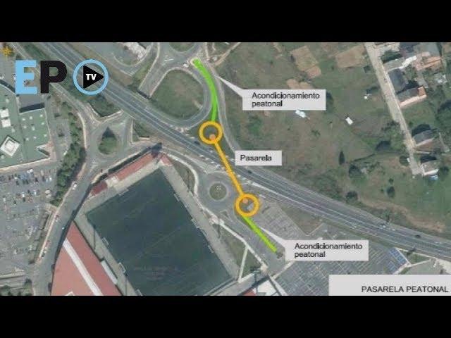 Así será la pasarela peatonal de la N-VI