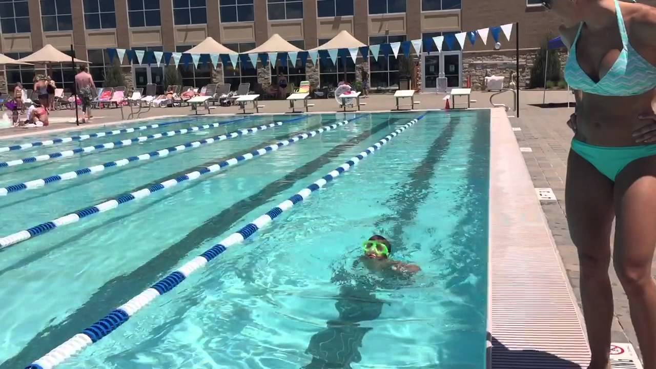 Lifetime fitness swim test youtube for Swimming pool test