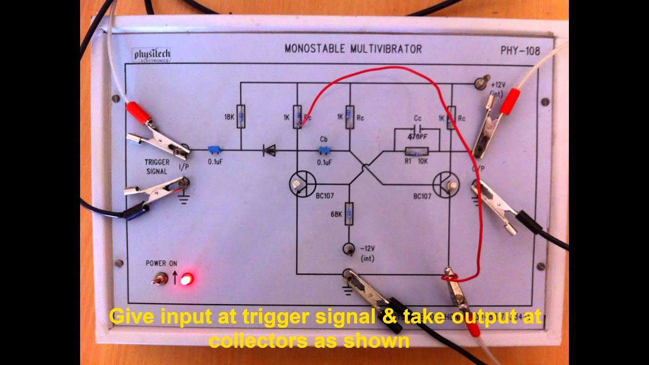 Monostable Multivibrator Experiment Youtube Monostablemultivibrator