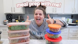 grocery shop + meal prep with me!