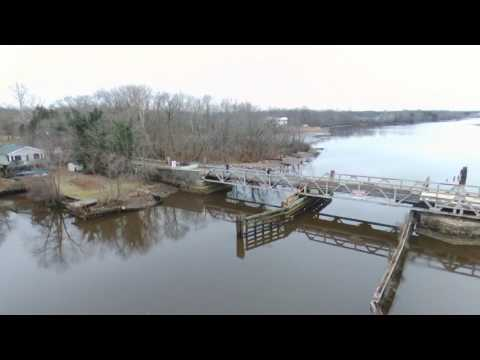Delaware river and Rancocas creek NJ Parrot Bebop 2 Drone  1/14/17