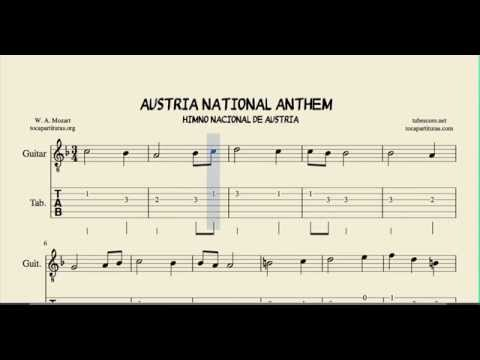 Guitar national anthem guitar tabs : Austrian National Anthem Tab Sheet Music for Guitar Tabs - YouTube