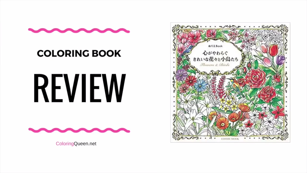 Flowers & Birds Coloring Book Review - YouTube