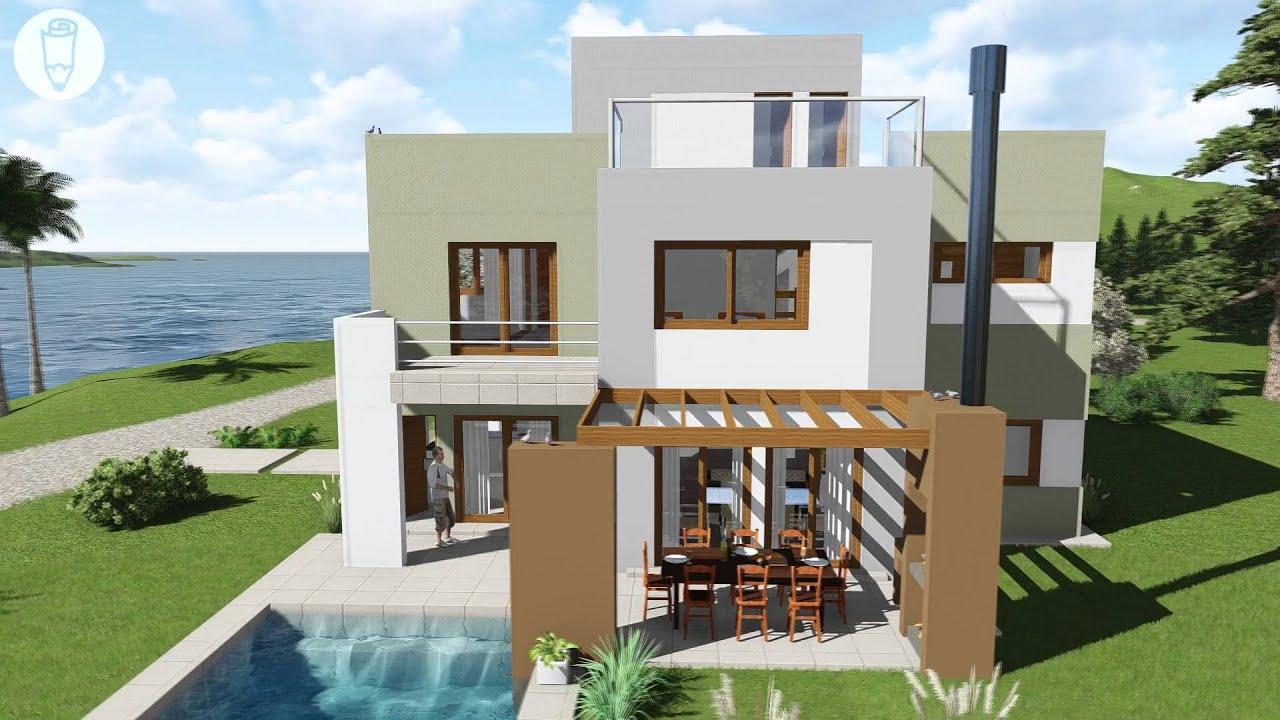 Planos de casas verano griego youtube for Casas de alquiler de verano con piscina