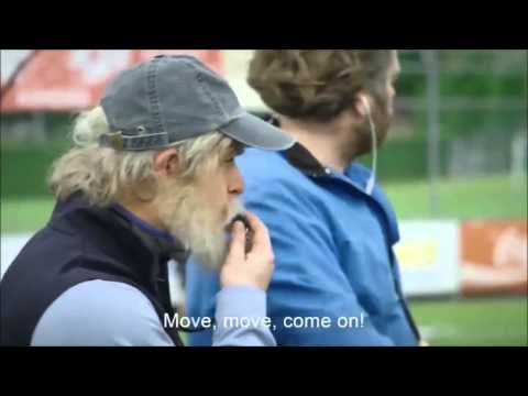 Pro soccer player is disguised as an old man, and surprises young soccer players