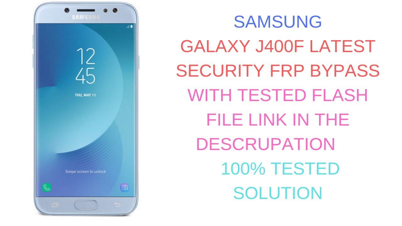 Samsung Galaxy J4 2018 SM-J400F 8 0 0 Bypass Frp Unlock