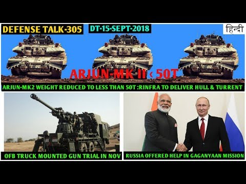 Indian Defence News:Arjun Mk-2 weight Reduced to 50t,Russia offers to train Indian astronauts,Hindi