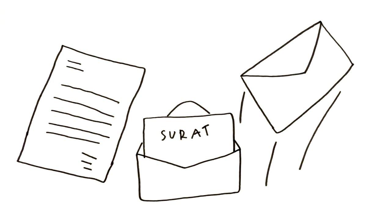 Menggambar Mewarnai Amplop Surat Untuk Anak Youtube