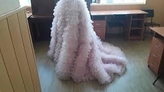 Шикарная богатая юбка со шлейфом. Юбка из евро сетки. Свадебная юбка или юбка для фотосессий.