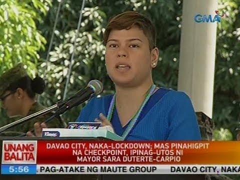 Davao city, naka-lockdown; mas pinahigpit na checkpoint, ipinag-utos ni Mayor Sara Duterte-Carpio