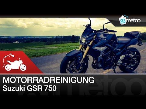 How To Reinigung vom Motorrad richtig gemacht Suzuki GSR 750 Motorrad Handwäsche Tutorial Anleitung
