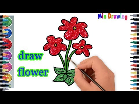 how-to-draw-flower-step-by-step-part-2-|-coloring-pages-for-kids-|-min-drawing