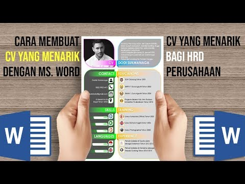 Cara Membuat CV yang Menarik dengan Microsoft Word