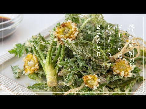 Fried Spring Greens, Little Forest Recipe | 🌱리틀포레스트 봄, 향긋한 봄나물 튀김 만들기🌱 | Spring Food Recipes