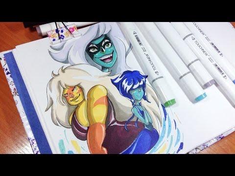 Как Нарисовать Персонажей Вселенной Стивена? // СпидПеинт // HappyArt #3