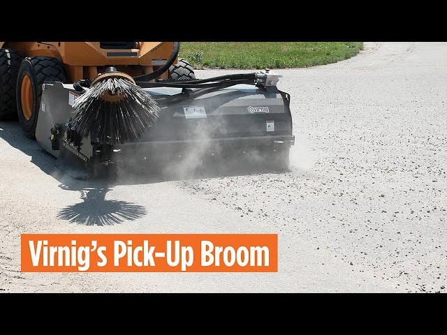 Virnig's Pick-Up Broom with Optional Low Profile Water Tank