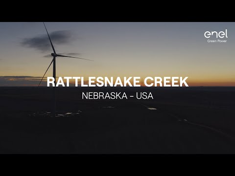 The Rattlesnake Creek wind farm in Nebraska, USA