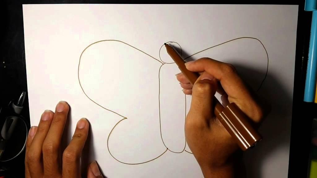 Cara Menggambar Kupu Kupu Untuk Anak Anak Youtube