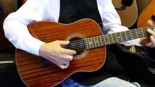 Zager Parlor size guitar walkaround  2015 Video 3