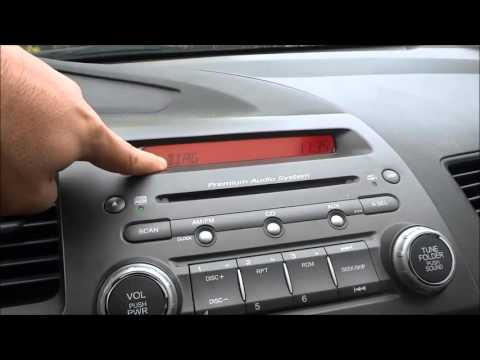 How To Find The Radio Serial Number-Honda Civic (8th Gen 2006-2011)