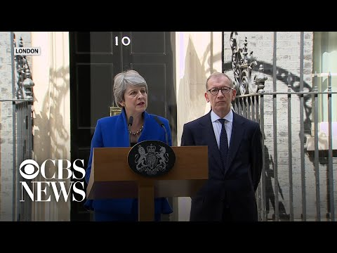 Outgoing U.K. PM Theresa May says goodbye