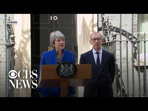 Outgoing U.K. PM Theresa May says goodbye