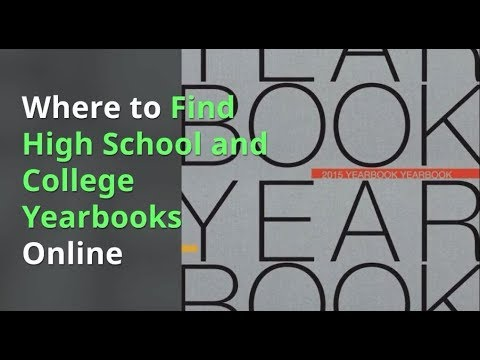 Where to Find High School and College Yearbooks Online