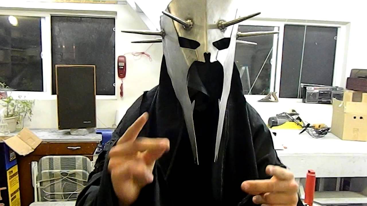 & Witch king helmet finished costume - YouTube