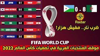 موقف المنتخبات العربية قبل بداية الجولة الثانية من تصفيات كأس العالم 2022 في افريقيا واسيا