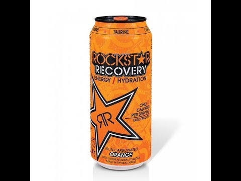Rockstar RECOVERY: Energy Drink: Orange Super Speed Chug and Review