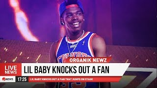 LIL BABY KNOCKS OUT FAN THAT JUMPS ON STAGE!!!