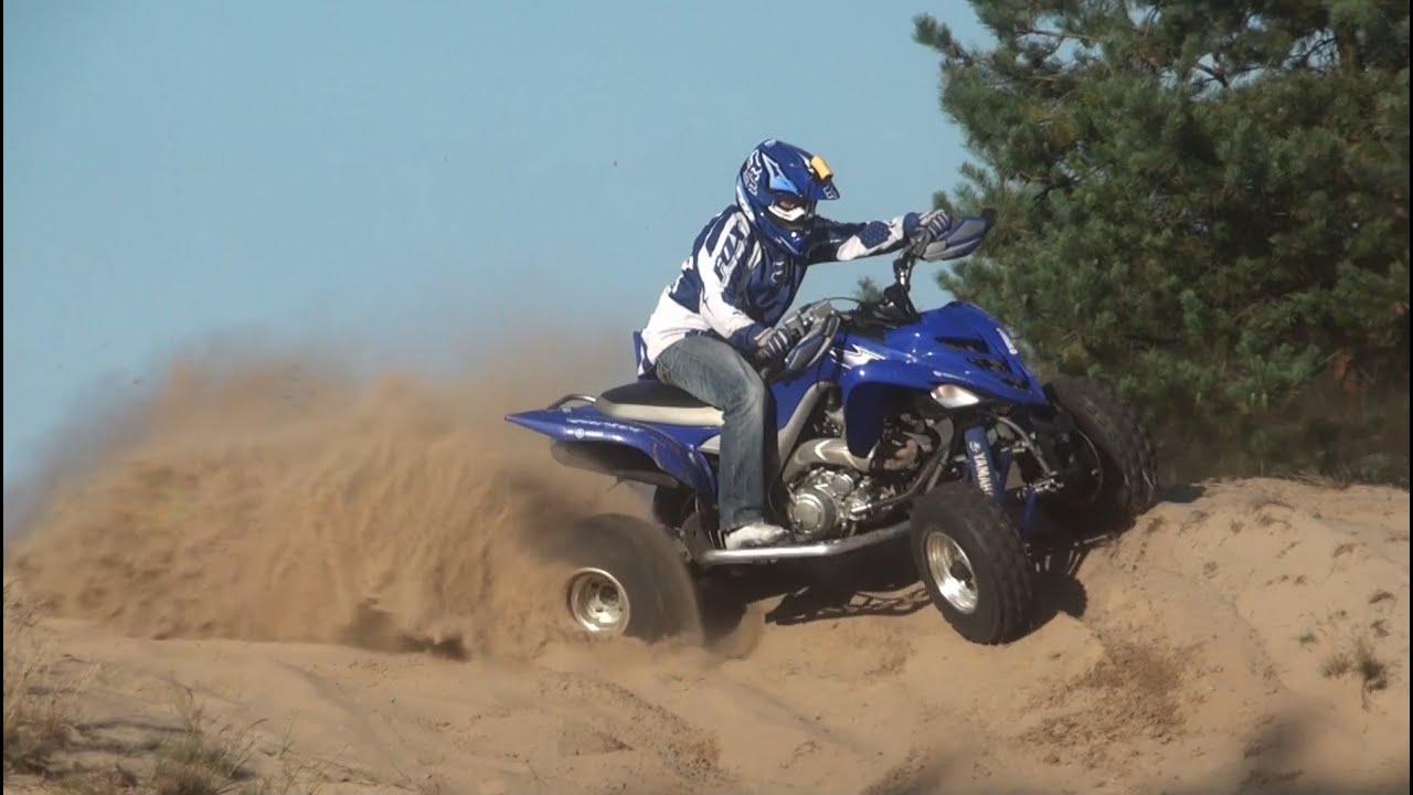 Yamaha raptor 700 quad atv rd32 ii skwierzyna riding movie full hd speed 140 km h