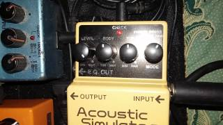 Boss  Acoustic Simulator AC-2 demo
